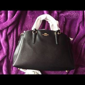 NWT Authentic Coach Black Sage Carryall